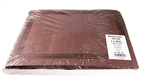 I LIKE Pack 250 UDS Mantel DE Papel GOFRADO Individual 30 x 40 cm - Color Rojo