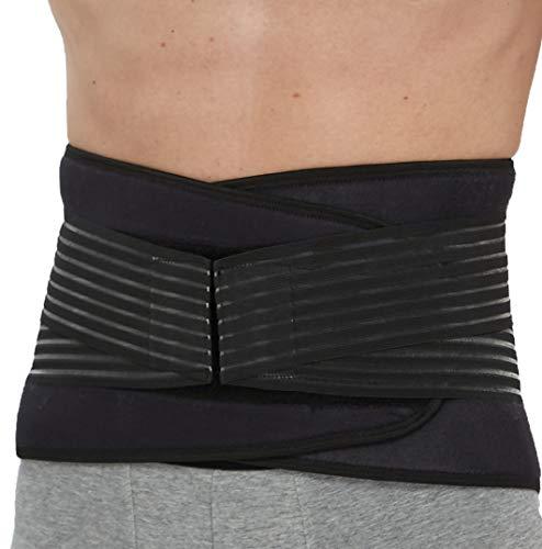 Apoyo lumbar de neopreno con fuertes tirantes de doble banda, Faja para la Cintura/Espalda/Zona lumbar - Talla XXXXL