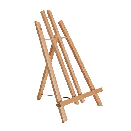 Tosnail 6 Pack 9 Inches Tall Wooden Tripod Easel Tabletop Easel Photo Painting Display
