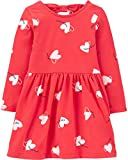 Carter's Girl's Valentine's Dress (12 Months, Red/Heart Bow)