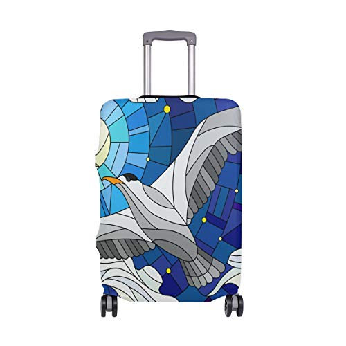 SCOCICI Luggage Suitcase Elastic Protective Covers Cow Hide Pattern with Black Spots Farm Life with Cattle Camouflage Animal for Men Women Travel Business