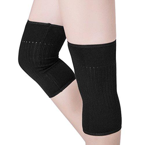 1 Paar Knieschoner Winter Wolle Kniebandage Elastische Kniewärmer Kompression Atmungsaktive Knieunterstützung Thermische Knieschützer Rutschfeste Kniewärmer für Damen und Herren