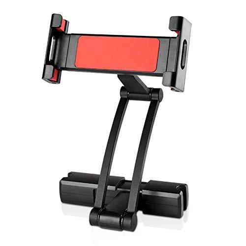 Auto Handyhalterung Auto Rücksitz Handy Tablet Halterung Hintere Kopfstütze Tablet Computerhalterung Aluminiumlegierung Material 360 ° Drehbar (Schwarz rot)