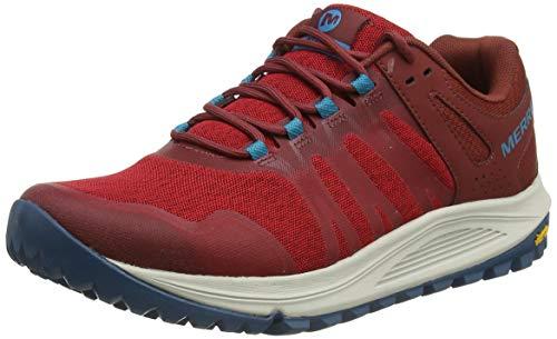 Merrell Nova, Zapatillas para Carreras de montaña Hombre, Rojo (Magma), 44 EU