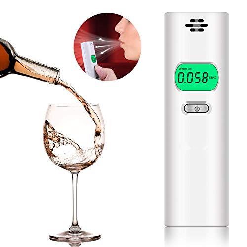 Probador de alcohol NOUVCOO, probador de alcohol preciso Dispositivo profesional de medición de alcohol en el aliento