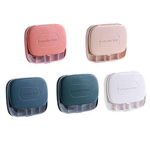 rickie_cao Caja portátil Caja de Viaje para joyería Bolsa Máscara Caja de Almacenamiento a Prueba de Polvo Collar de joyería de Mano Caja de Almacenamiento de joyería