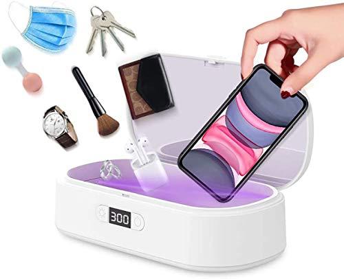 Esterilizador UV portátil, carga rápida para smartphones, dispositivo desinfectante UV para todos los teléfonos móviles, joyas, relojes, gafas, productos para bebés