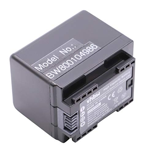 vhbw Li-Ion Akku 2400mAh (3.6V) für Camcorder Kamera Canon Legria HF R66, HF R68, HF R606 wie BP-727.