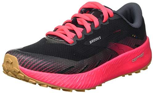Brooks Catamount, Zapatillas para Correr Mujer, Negro y Rosa, 43 EU