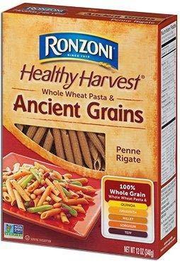 RONZONI HEALTHY HARVEST Whole Wheat Pasta & Ancient Grains 12 oz boxes (2)