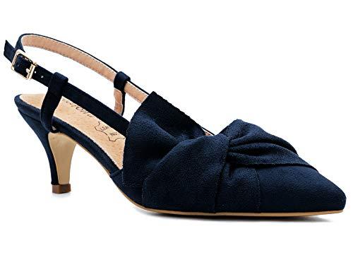 Greatonu Zapatos Tacón Bajo Correa Tobillo Diseño