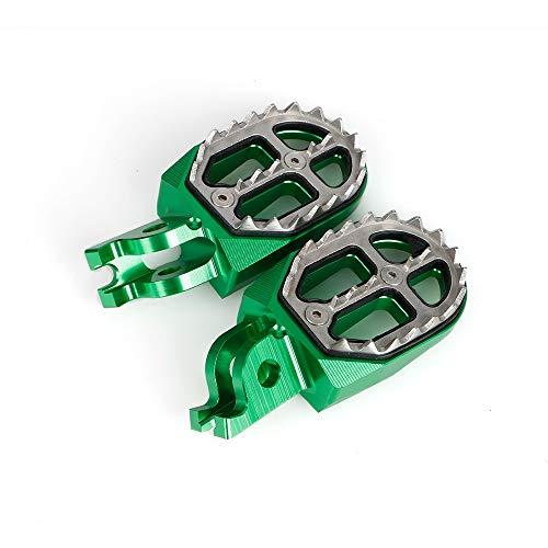 RONGLINGXING Powersports Teile For Kawasaki KX250 KX250F KX450F KLX450R KX KXF 250 450 250F 450F KLX 450R Fußrasten Erholung Fuß Dirt Bike-Zubehör Motorrad (Color : Green)