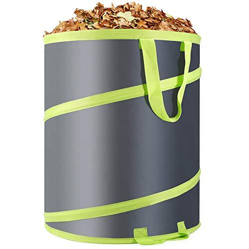 Hortem 30 Gallon Leaf Bags Reusable- Collapsible Garden Bag, Pop Up Trash Can, Durable Yard Waste Bag for Gardening, Home or Camping