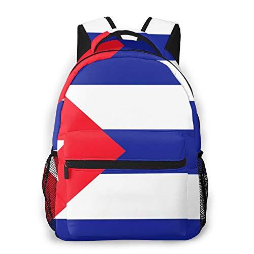 Laptop Rucksack Schulrucksack Kubanisches Kuba Markierungsfahnen Zeichen, 14 Zoll Reise Daypack Wasserdicht für Arbeit Business Schule Männer Frauen