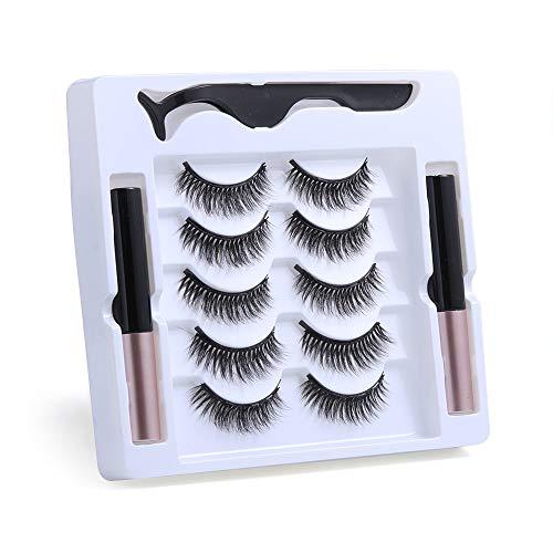 UNICK Hot Sale Long-lasting Waterproof Handmade Natural Long With Tweezer Magnetic Eyeliner Lash Extension Magnetic Eyelashes(Y-30) 1