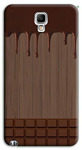 Mixroom - Cover Custodia Case in TPU Silicone Morbida per Samsung Galaxy Note 3 III Neo N7505 M733 Tavoletta di Cioccolata Sciolta
