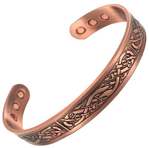 Armband aus reinem Kupfer, zur Linderung von Arthritis -hohe Qualität, elegant, Kupferarmreif mit 6leistungsstarken Magneten zur Schmerzlinderung bei Arthritis, für Damen und Herren