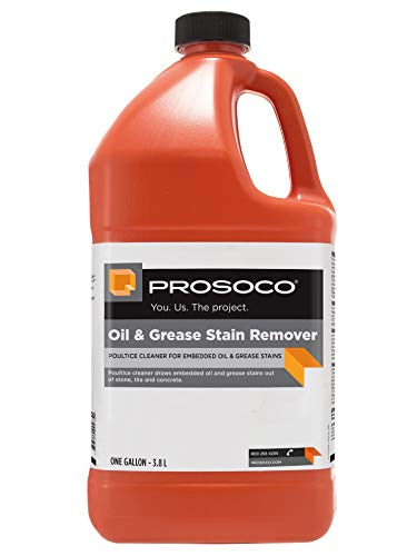 PROSOCO Oil & Grease Stain Remover for Driveways and Garage Floors – Ready-to-Use Formula - Trusted by Professionals (Gallon)