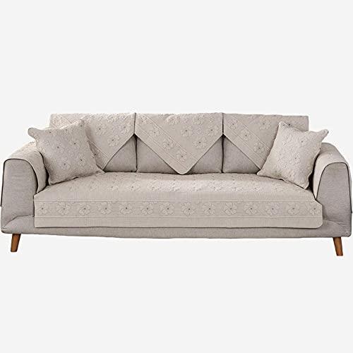 XHNXHN Funda de sofá universal para cuatro estaciones, funda de sofá de perro para mascotas, lavable a máquina, protector de muebles reversible Bauhinia sofá, para verano, marrón