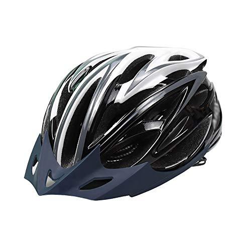 JIAGU Cascos para Bicicletas para Adultos Casco de Bicicleta con Ligera PC Shell/Soft Replacable EPS Liner Camino de Mountian del Casco de Ciclista (Color : Black Gray, Size : M)