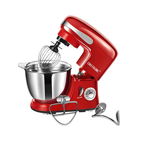 CHEFTRONIC SM928-Red Standing Mixer, One Size, Red