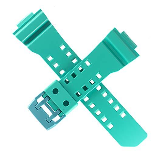 Casio 10491477 - Correa de reloj para GA-400A, 400, color azul brillante