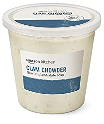 Amazon Kitchen, Clam Chowder New England-Style Soup, 24 oz