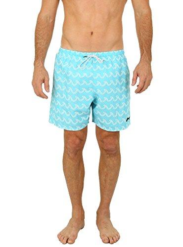 UZZI Men's Bimini Swim Trunks Aqua XL