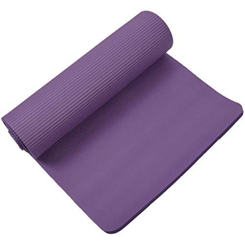 Yoga-Matte 15 mm Dicke Übung Fitness Physio Pilates Workout-Matte Anti-Rutsch-Farbe Lila