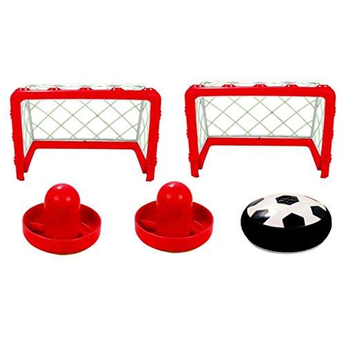 Air Hockey mit Luftkissenball und bis zu 4 Spielmöglichkeiten inklusive 1 x Luftkissenball 2 Tore mit Saugnäpfen und 2 Schläger