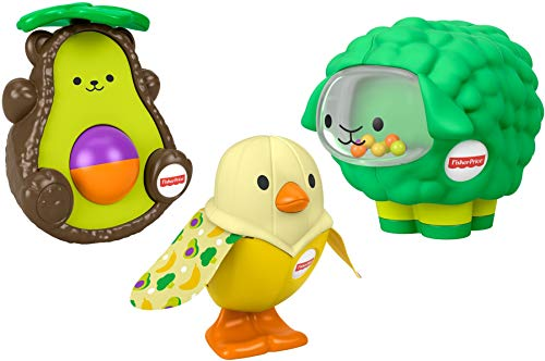 Fisher-Price Food-Animals Gift Set  3 take-Along Toys for Babies Ages 6 Months & up [Amazon Exclusive]