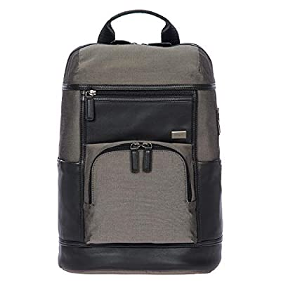 Bric's Monza Urban Laptop|Tablet Business Backpack, Grey.Black, One Size