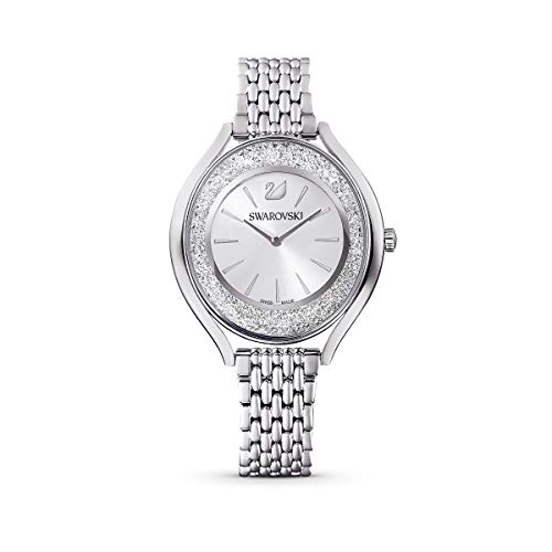 Swarovski Crystalline Aura Uhr, Metallarmband, silberfarben, Edelstahl