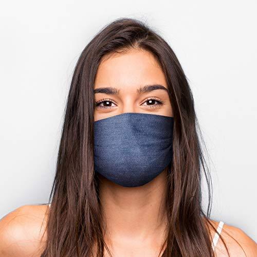 Generisch Mund Nasen Maske in vielen Varianten (Jeans-Optik)