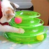 WangLiJiaFDSGB Torre-Nueva gigante gato animal diseño de la barra de seguridad, pelota de juguete interactivo gato, juego de deportes, remolque, antideslizante, estilo de vida activo y saludable, adec