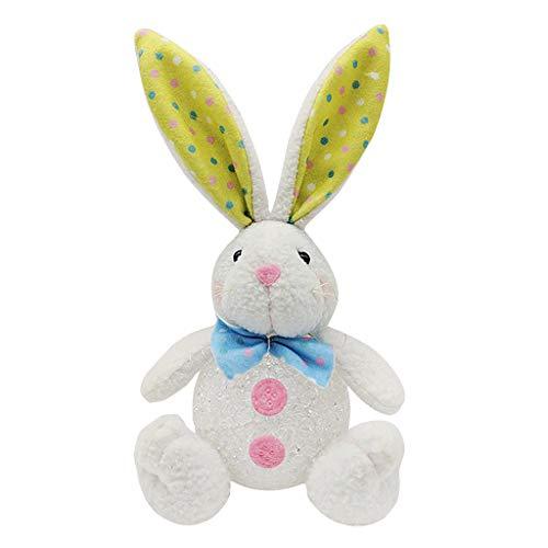 BINGBIAN Easter Rabbit Doll Easter E-g-g Toys Night Light Easter Home Garden Decorations