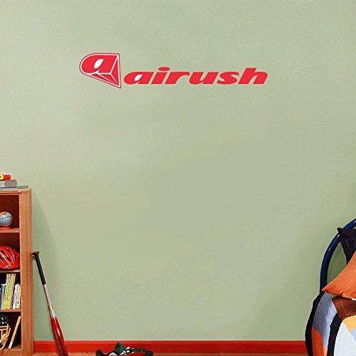 Preisvergleich Produktbild Airush Kites Kiteboarding Sport Red Slogan Set of 2 Home Decor Art Wall Vinyl Sticker 63 x 15 cm
