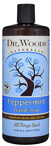Dr. Woods Pure Castile Soap with Organic Shea Butter - Peppermint - 32 oz by Dr. Woods