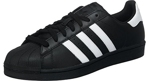 adidas Originals Superstar Foundation B27140, Herren Low-Top Sneaker, Schwarz (Core Black/Ftwr White/Core Black), EU 46 2/3