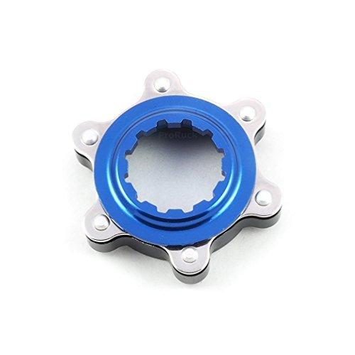 MTB dischi freno Adattatore, Bicicletta freno a disco Center Lock Adattatore freno a disco rotore Adattatore per 6Bulloni rotori, Fit per Shimano Center Lock mozzi, Blau