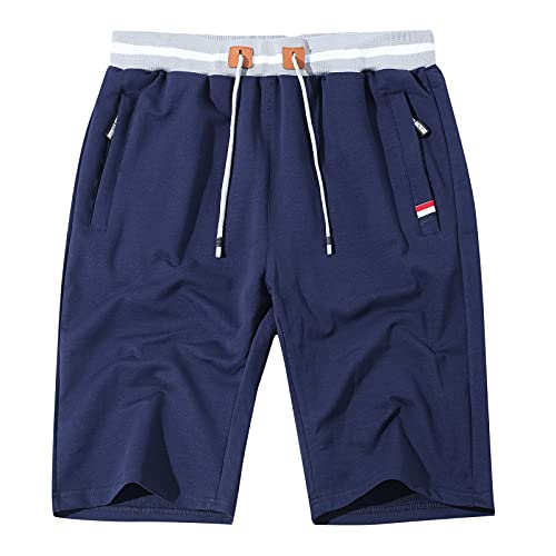 Leezepro Pantalones Cortos Deportivos Elástico para Hombre Shorts Casuales Bermuda con Bolsillo...