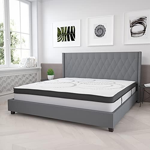 Flash Furniture Capri Comfortable Sleep 12 Inch Foam and Pocket Spring Mattress, King in a Box