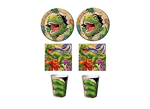 Creative Converting IRPot - Kit 64 PZ Compleanno Tema Dinosauri per Festa Bambino