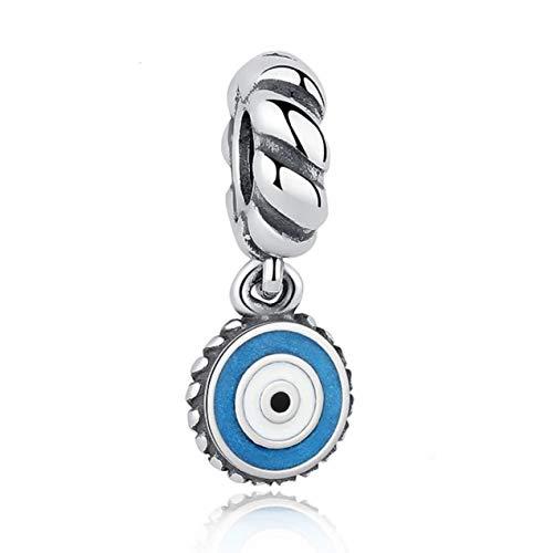 EvesCity Bolenvi - Abalorio colgante de plata de ley 925 con diseño de ojo turco para pulseras y collares - el mejor regalo para ella