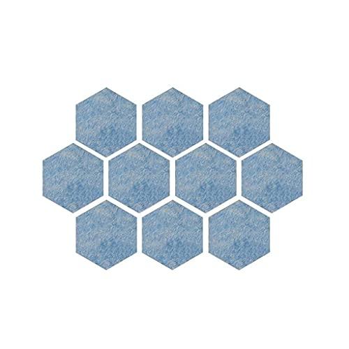 XBSXP Panel acústico, Tablero de Fieltro de Creatividad, tablón de anuncios Hexagonal de Color, tablón de anuncios de Pared de Restaurante, Fieltro multifunción, insonorizado, 10 Piezas