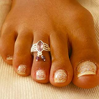 Toe Ring - Silver Toe Ring - Adjusable Toe Ring - Foot Accessories - Foot Ring - Foot Jewelry - Band Toe Ring - Gifts Under 20