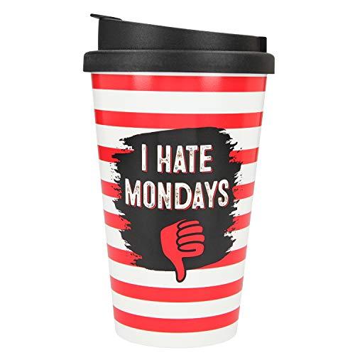 Depesche 2180.026 - Vaso de plástico con texto en inglés 'I Hate Mondays' (350 ml)