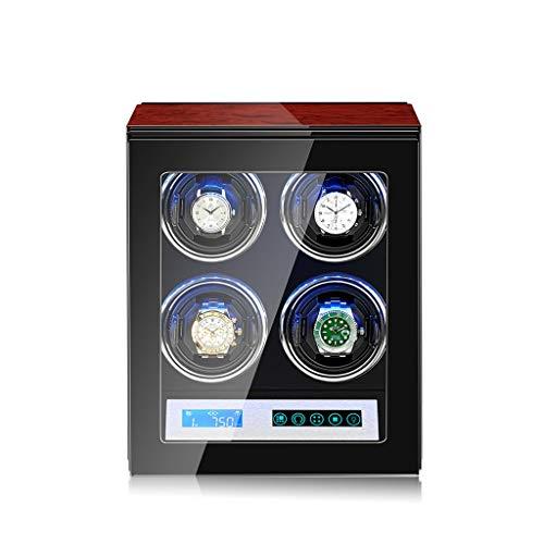 KHUY Caja Giratoria Reloj Automatico, Cajas Relojes Automaticos Von 5 Ajuste del Modo de Rotación, Windens Mens Auto Watch Winder con Motor Super Slim, Pillow (Color : Style C)