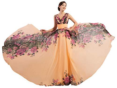 GRACE KARIN Wickelkleider elegant ballkleid schnürung brautjungfernkleider Damen ärmelloses Maxikleider 22W CL7502-1