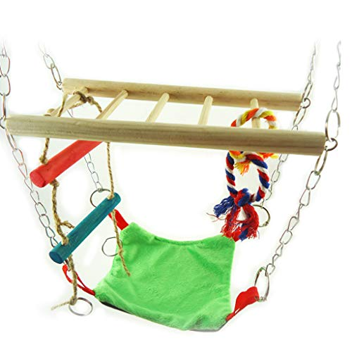 Buwei Parrots Birds Exercise Toys Pet Parrot Rocking Climbing Ladder Hanging Bridge